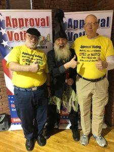 Blake and Frank with Vermin Supreme at the 2019 New Hampshire Liberty Forum
