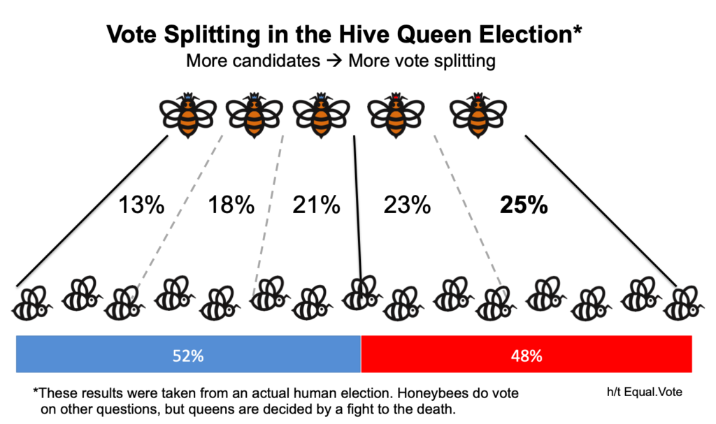Vote splitting in the Hive Queen Election